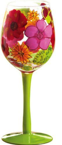 "Floral Splash,Wine Glass 14 oz,Glass,3.5x8.75 Inches by Cypress Home. $14.99. Hand wash only. Packaged in attractive gift box. Perfect gift for the wine enthusiast. The size is: 3.5""x8.75"". As if plucked from a summertime flower garden, this wineglass is a showcase of colorful blooms. Pinks, reds, and oranges decorate it so beautifully that it seems a work of art. The Floral Splash Wine Glass is full of vibrant life and splendor, perfect for someone whose pers..."