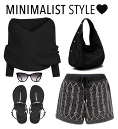 """Minimalist black, #minimalist"" by juliehalloran ❤ liked on Polyvore featuring Havaianas, women's clothing, women's fashion, women, female, woman, misses and juniors"