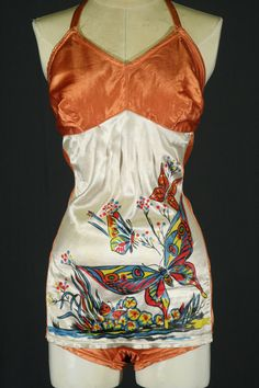 1940's Satin Swim Suit. RedLightPDX on Etsy