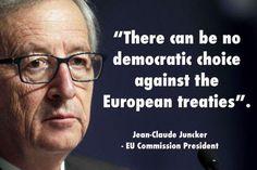Juncker threatens European democracies by abolishing referendums