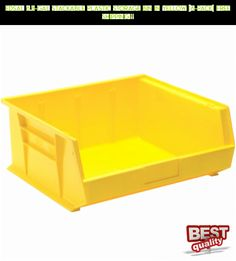 Edsal 6.8-Gal Stackable Plastic Storage Bin in Yellow (6-Pack) FREE SHIPPING!!! #yellow #parts #products #gadgets #storage #shopping #racing #drone #fpv #plans #tech #kit #technology #camera
