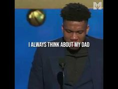 Giannis gets emotional accepting MVP award! ❤️🔥💪 Best Motivational Speakers, Motivational Videos, New Age, Work Hard, Dreaming Of You, Working Hard, Hard Work