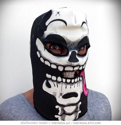 Skullmonster Mask (100% Organic Cotton Knit) #Etsy #Share #AyuJewelryShare #EtsyShop #MSMTeam