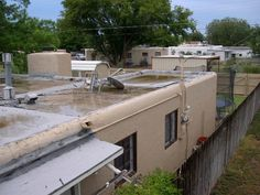 bad looking flat roof | Let's go swimming on the roof? Flat roofs and the dangers.