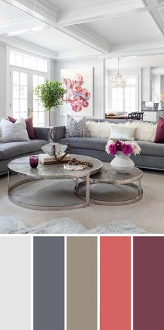 9 Fantastic Living Room Color Schemes Neutral Gray Living Room Color Scheme Source b Living Room Decor Colors, Living Room Paint, Living Room Decor Apartment, Paint Colors For Living Room, Decor Color Schemes, Apartment Living Room, Living Room Grey, Living Room Decor Modern, Interior Design Living Room