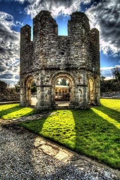 """Mellifont Abbey (Irish: An Mhainistir Mhór, literally """"the big abbey""""), located in County Louth, was the first Cistercian abbey to be built in Ireland."""