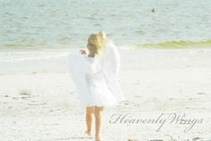 Angel Wings on the Beach Heavenly Little Wings by HeavenlyWings, $25.00