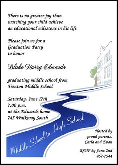 41 best 8th grade middle school junior high graduation cards images middle school graduating invitations and announcements path to high school this middle school announcement invitation graduation party filmwisefo