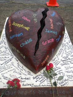 Sandy Hook, Newtown: Broken Hearts by Kathryn Blanco, via Flickr