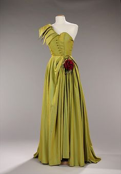 Dress, Evening, House of Patou, 1947-49, French, synthetic