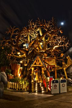 Chip N' Dale's Tree House. Toontown Disneyland  - Morgan Richardson