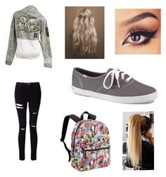"""Untitled #72"" by forever30-1 on Polyvore featuring Victoria's Secret, Miss Selfridge and Keds"