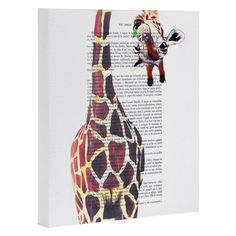 Coco de Paris Funny Giraffe Art Canvas | DENY Designs Home Accessories