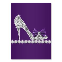 High Heel Shoe Template | purple high heels shoe business cards sparkle high heels shoe with ...
