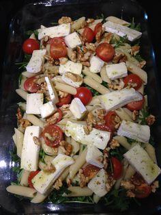 Salade met brie en walnoten.