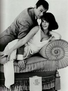 SEX AND THE SINGLE GIRL - Tony Curtis & Natalie Wood - Based on the book by Helen Gurley Brown - Warner Bros. - Publicity Still.