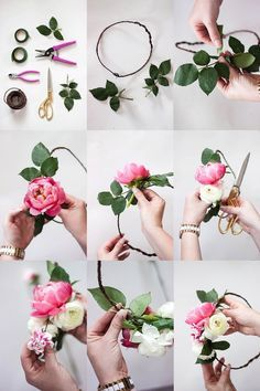 How to make a flower crown // flower crown bar // bridal shower // DIY FLOWER CROWN