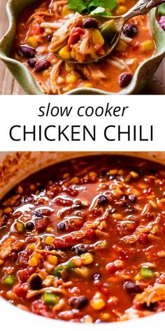 Slow Cooker Chili, Slow Cooker Chicken Chili Recipe, Slow Cooker Huhn, Slow Cooker Recipes, Cooking Recipes, Healthy Recipes, Crockpot Recipes, Mexican Chicken Chili Recipe, Crockpot Chile