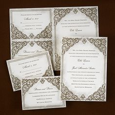 Baroque Beauty - Sep 'n Send wedding invitations   A vintage baroque design is featured on this trendy invitation