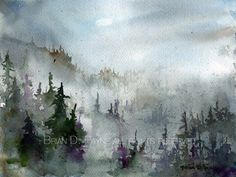 Misty Morning Pines