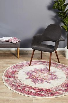 Eclectic is the perfect collection for Summer, bursting with colour, life and character. The use of ornate geometric and floral motifs make these statement rugs a visual delight that will work beautifully in Bohemian and eclectic settings. Home Decor Bedding, Home Yoga Room, Round Rug Living Room, Bohemian Dining Room, Rugs On Carpet, Large Floor Rugs, Eclectic Rugs, Round Rugs, Rugs Online