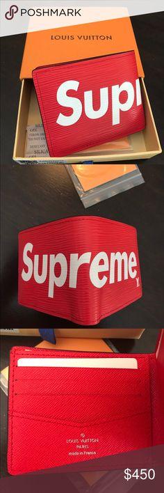 112904abf5c0 Supreme x Louis Vuitton Wallet NEW Supreme x Louis Vuitton Wallet! Contact  me with any
