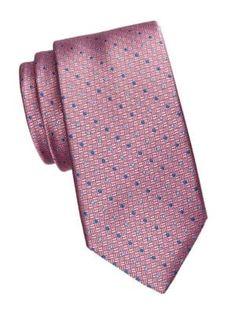 SAKS FIFTH AVENUE Dot Grid Silk Tie. #saksfifthavenue Saks Fifth Avenue, Silk Ties, Grid, Dots, Mens Fashion, Classic, Pink, Shopping, Moda Masculina