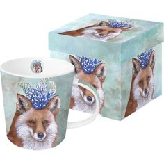 "Amazon.com | Paperproducts Design ""Beatrice"" Gift Boxed New Bone China Mug, 13.5 oz, Multicolor: Coffee Cups & Mugs"