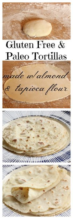 Have to try without almond flour - Gluten free Paleo Friendly Tortillas. Made with almond and tapioca flour. NO EGGS. This is vegan! Tastes like Indian Roti. Great for burritos, wraps and scooping up stews. Gluten Free Cooking, Dairy Free Recipes, Cooking Recipes, Wheat Free Recipes, Gluten Free Roti Recipe, Gluten Free Naan, Gluten Free Wraps, Freezer Recipes, Freezer Cooking