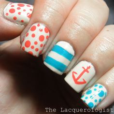 The Lacquerologist: Nautical Nails for Summer!