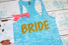 Bride Shirt. Bride Tank. Future Mrs Tank. by BrideAndEntourage
