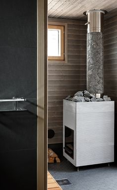 Sauna Heater, Finnish Sauna, Spa, Laundry In Bathroom, Hot Tubs, Basement Ideas, Pools, Toilet, Bathrooms
