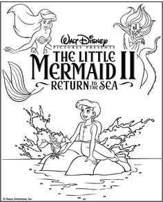 The Little Mermaid Coloring Book | Disney - Coloring & Activity ...