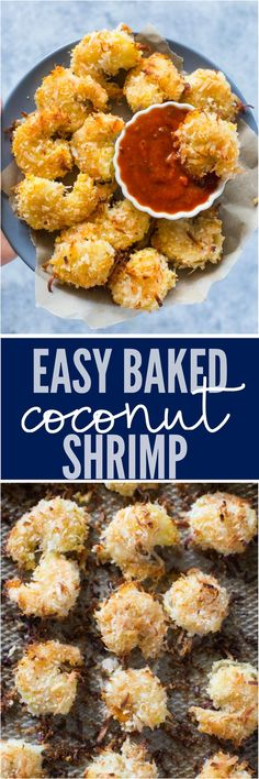 Crispy baked coconut shrimp is super easy to make and is a perfect healthy appetizer.