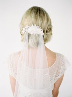 Perfect Wedding Hairstyles with Accessories from Percy Handmade - MODwedding