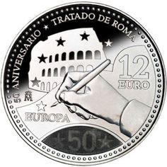 Moneda conmemorativa 12 euros 2007., Tienda Numismatica y Filatelia Lopez, compra venta de monedas oro y plata, sellos españa, accesorios Leuchtturm
