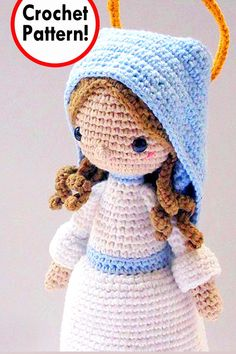 On we go with Christmas in July! And today we focus on Amigurumi Christmas Nativity patterns! Crochet Gratis, Crochet Toys, Crochet Baby, Knit Crochet, Amigurumi Doll, Amigurumi Patterns, Crochet Patterns, Christmas Nativity, Christmas Angels