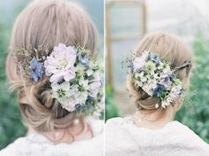 Delicate and romantic seasonal wedding hair flowers – beautiful alternatives to the flower crown