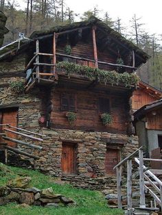 Rustic style, but great use of rock and landscaping/plants.