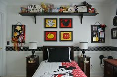 I like the framed artwork for Dylan's room. Mickey Mouse Bedroom - The DISboards.com
