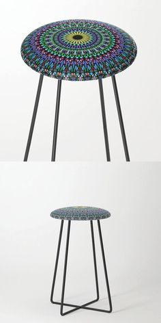 Colorful Floral Gravel Garden Mandala Counter Stool by David Zydd #MandalaCounterStool #BestCounterStools #Mandala #Flowers #Home #Floral #Abstract #Interior #Seating (tags: pattern, gravel, designer, sacred, furniture, mandala home decor, bloom, sacred geometry, for her, society6, home decor, interior, psychedelic, design, yoga, mandala furniture, floral) Mandala Design, Mandala Pattern, Mosaic Patterns, Geometric Mandala, Pattern Art, Counter Stools, Bar Stools, Bohemian Room, Hippie Boho