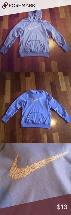 💜Light purple Nike hoodie sweatshirt!!! 💜 Size L. Great condition. All the clothes I list are simply things my family has grown out of. This sweatshirt will definitely keep you comfy and warm. And hey I'm making you a great deal on it!!! 😊 Nike Tops Sweatshirts & Hoodies