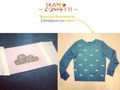 DIY-customizar ropa con la forma de nubes-customize your own cloth. http://idoproyect.com/blog/con-la-cabeza-en-las-nubes/