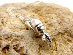 Copepod Plankton Pendant  Marine Biology  Science Jewelry