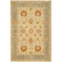 Safavieh Hand-made Anatolia Taupe/ Grey Wool Rug (6' x 9')