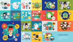 Online education vector icons bundle by Vector-Stock on Creative Market