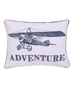 Love this White & Navy Tyle 'Adventure' Pillow on #zulily! #zulilyfinds