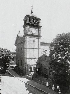 Another view of St Augustine's Roman Catholic Church on the junction of Grosvenor Road and Hanover Road.  It was demolished in 1968.