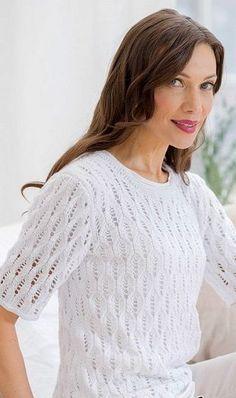 Летний пуловер - Вязание спицами - Страна Мам