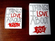 For Him: Things I Love About You Box (with food ;) #vday #DIY